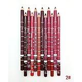 godhl12Colores Profesional de Maquillaje Impermeable Lip Liner Lipstick con tapa 15cm
