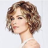 Perruque européenne et américaine femme cheveux courts moelleux rouleau d'oeufs...