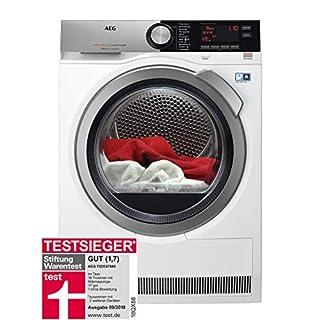 AEG T9DE87685 Wärmepumpentrockner / AbsoluteCare: Wolle-Seide-Outdoor trocknen / 8 kg / Energiesparend / Mengenautomatik / Knitterschutz / Schontrommel