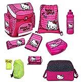 Hello Kitty Schulranzen Set 9tlg. mit Sporttasche, Federmappe, Ranzen Scooli HKSU8251-2016