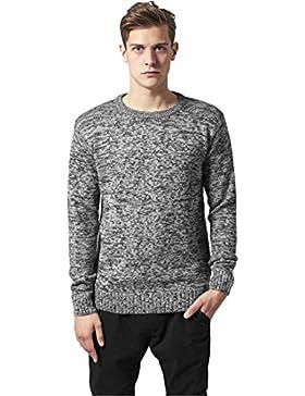 MAG Urban Classics tb552Melange Knitted Crew sudadera hombre Streetwear Crewnecks, XL