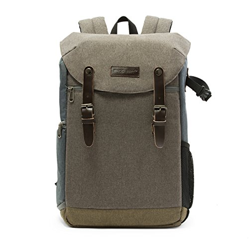 *BAGSMART Professioneller SLR / DSLR Kamera-Rucksack mit Laptopfach Grau*
