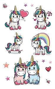 Beito Tatuajes temporales de unicornio