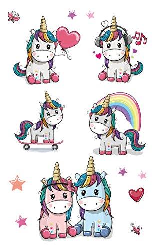 (Beito 8Pack Einhorn temporäre Tattoos für Mädchen für Unicorn Party Supplies begünstigt, und Einhorn Geburtstage schönen Metallic Einhorn und Pegasus Tattoos)