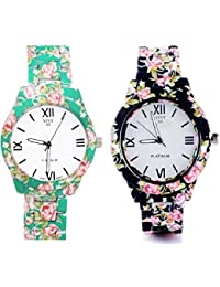 6be5ede727 Shocknshop Analogue Combo of 2 Geneva White Dial Luxury Women & Girls  Watches - Multi Colour