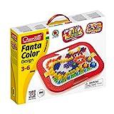 Quercetti 0900 - Mosaik-Steckspiel Fanta Color