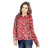 SFDS Women's Polyester Red Shirt(T-336-E...