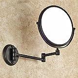 SYW bad kosmetikspiegel faltbare wand montierten lupe schwarze schönheit spiegel schwarze 3x bronze