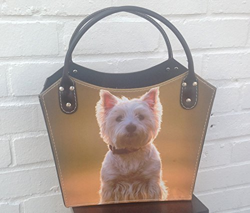 Portariviste - Westie design Tidy bag - Dog Home Storage - Gift Bag Dog