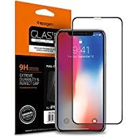 "Spigen, Vetro Temperato iPhone XS / X (5.8 ""), Vetro temperato 9H premium, Custodia compatibile, Copertura Totale, Compatibile con Face ID, Ultra Clear, 5.8 pollici, Protezione per Schermo iPhone XS / X, Pellicola Protettiva iPhone X / Pellicola iPhone XS (2018) (057GL22986)"