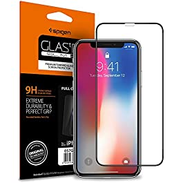 Spigen, 1Pack, iPhone 11 Pro/iPhone XS/iPhone X Screen Protector (5.8″), Full Coverage, Tempered Glass, Case Friendly, Face ID Compatible, iPhone 11 Pro/XS/X Screen Protector