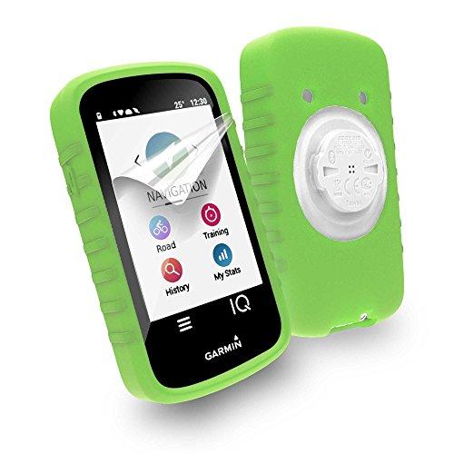 Tuff-Luv Silicone case & screen protection for Garmin Edge 1030 - Green