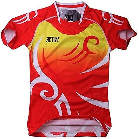 Yuchen Niños Ropa de deporte Jersey funcionamiento fresco seco camiseta