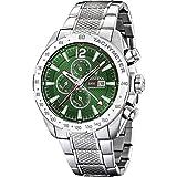 Festina Herren Chronograph Quarz Uhr mit Edelstahl Armband F20439/3