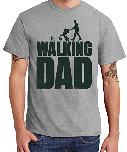 -the-walking-dad-boys-t-shirt-sports-grey-schwarzer-druck-grosse-l
