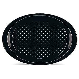 Freelance Polypropylene Anti-Slip Tray, Small, Oval, Black