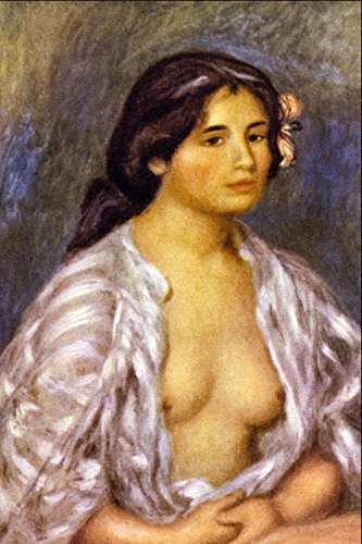Das Museum Outlet–Gabrielle in eine offene Bluse von Renoir–Poster Print Online kaufen (152,4x 203,2cm) (Akzent Bluse)