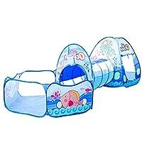 SHARESUN Kids tunnel tent, marine ball pool& shooting frame design baby crawling three-in-one tent, children