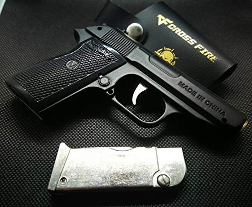 Mini Lighter Pistol Walther Black PPK with Holster New