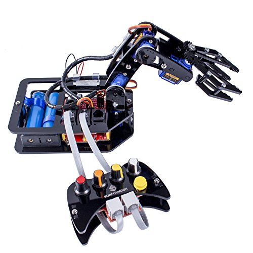 sunfounder-diy-robotic-arm-kit-4-axis-servo-control-rollarm-with-wired-controller-for-arduino-uno-r3