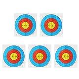 Lot de 5 Cibles en Papier Epais Réglable Lumineuse pour Tir à l'arc 60 x 60 cm - 40 * 40cm