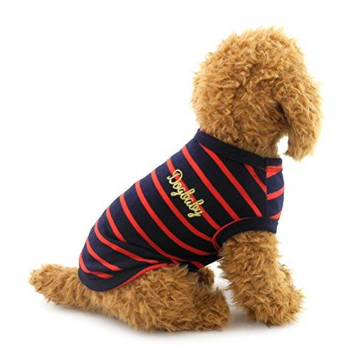 zunea Kleine Haustiere Hund Katze Weste T-shirt Baumwolle Streifen Doggy Shirts Chihuahua Puppy Kleidung (Jacket Plaid Halloween Kostüm)