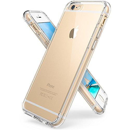 Ringke Fusion - Custodia protettiva per Apple iPhone 6 e 6S con paraurti in TPU, Trasparente
