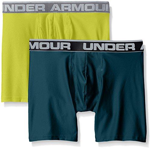 Under Armour Herren O Series 6 zoll BoxerJock 2 PK arden green-smash yellow (1282508-919)
