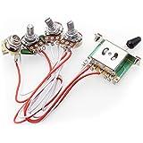 Kits de arnés de cableado de la guitarra eléctrica, 2T1V perillas de control 5-