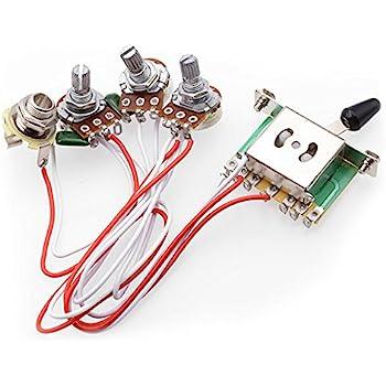 5-fach-Schalter + 500K Poti + Verkabelung für Strat ...