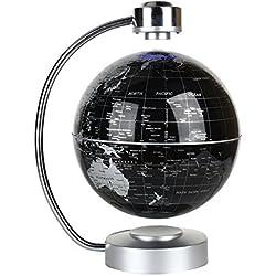 Globo terrestre flotante de levitación magnética el mapa del mundo para oficina y casa regalo educativo para los niños (negro)