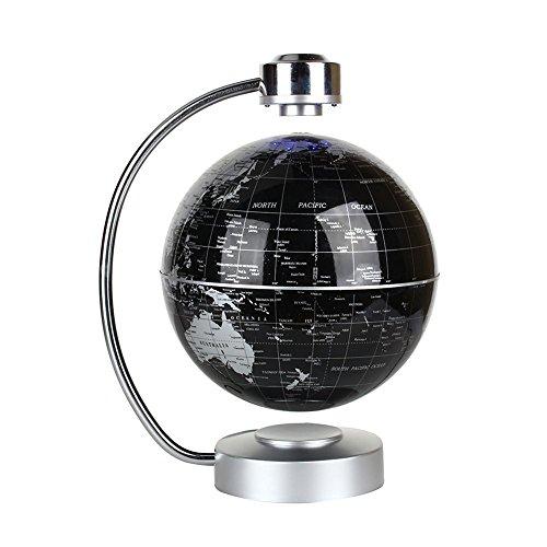 ZJchao Globo terráqueo Flotante de levitación magnética el Mapa del Mundo para Oficina y casa Regalo Educativo para los niños (Negro)