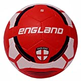 #6: Vector X England Rubber Moulded Football, Size 5 (White/Red)