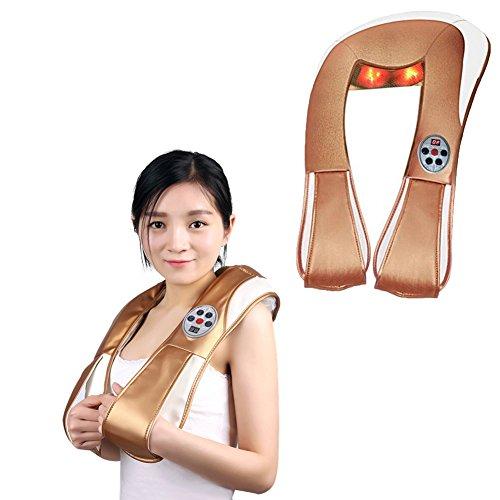 Nackenmassagegerät, Shiatsu Rücken Schulter Massagegerät Mit Wärme Simulation Tissue Kneten Elektro-Multifunktional Für Ganzkörper Einsatz HMYH