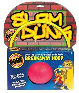 POOF-Slinky 824BL POOF Over The Door Breakaway Basketball Hoop with Backboard and Foam Balll by Poof TOY (English Manual)