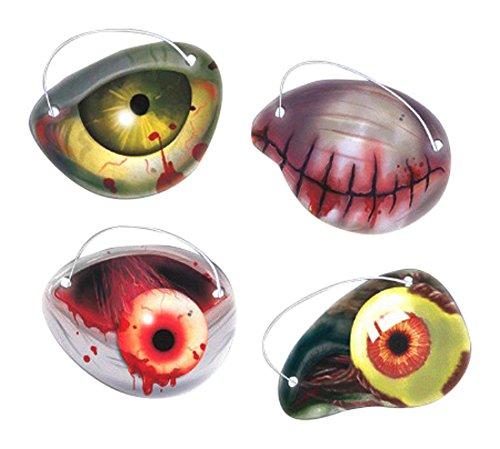 amscan International 398147Zombie Papier Eye Patch für Pack, 6,4x 5cm (Zombie Gesicht Malen)