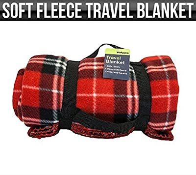 Soft Fleece Travel Blanket, Car Travel Rug, Camping Quilt 180x120cm - low-cost UK light store.