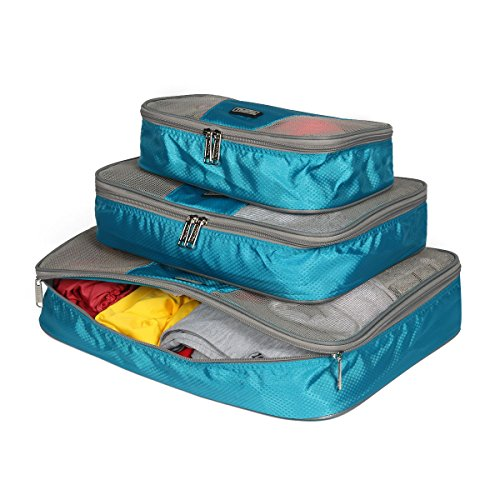 Thikin , Organizer per valigie , blu (Blu) - Thikin 3pcs Travel Cubic