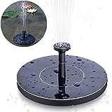 MSDADA 1.4W Solarpumpe Springbrunnen, Solar Teichpumpemit 4 Düsen, Gartenteichpumpen Solar Wasserpumpe Kann auf Dem Wasser schweben für Gartendeko Fisch-Behälter