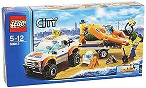 lego city 60012 jeu de construction le transporteur du bateau du garde c tes. Black Bedroom Furniture Sets. Home Design Ideas