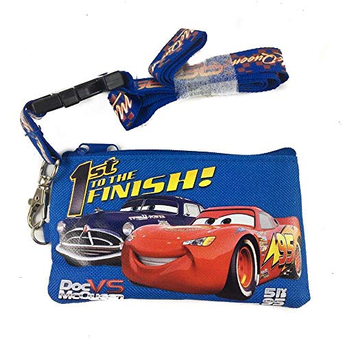 Disney Lanyard & ID Holders with Coin Purse (Blue Car) (Lanyards Disney Cars)