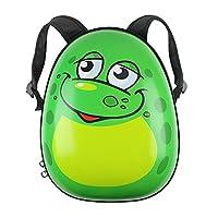 Kids Animal Hard Shell Backpack / Rucksack - Travel Hand Luggage (Small Frog)