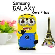 Suave 3D Minions piel funda Cover Carcasa Cubierta Caso Case Skin de silicona para el teléfono móvil para Samsung Galaxy Core Prime
