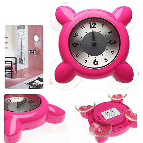 Hense-Dusche oder Badezimmer Uhr, wasserdicht, mit starker Saugnapf Glas Tasse HM42
