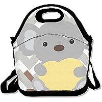 Preisvergleich für Lunch Tote Koala Lunch-Boxen Lunchpaket Handtasche Lebensmittel Aufbewahrung passend für Schule Reisen Arbeit Outdoor