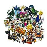 Top Aufkleber!  Set von 36 Dragon Ball Z Aufkleber Premium Qualität - Vinyls Stickers Nicht Vulgär - Fashion, Stil, Bombe, Graffiti - Anpassung Laptop, Gepäck, Motorrad, Fahrrad, Skateboard ...