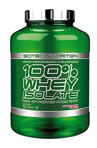 Scitec Nutrition 100% Whey Isolate Suplemento Nutricional de Proteinas con Sabor de Fresa, 2kg