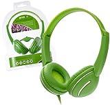 Groov-e Streetz Stereo-Kopfhörer mit In-Line Lautstärkeregler / Für Kids, Kinder, MP3, Musik / Grün