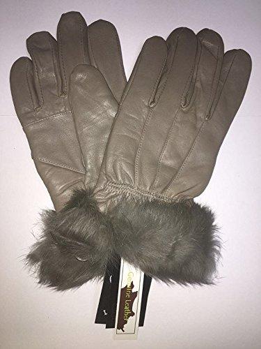EliteZotec New Light Chocolate Damen Fell Leder Handschuhe Große Fahren Winter Tight Fit Hot (Hot Leder Damen Handschuhe)
