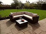 Porto Rattan Garden or Conservatory Furniture Corner Sofa Set